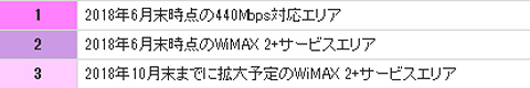 WiMAX エリア